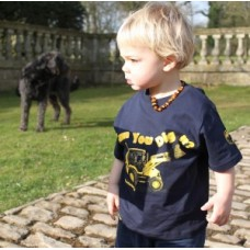 Tractor Ted Dig It T-Shirt Blue 3/4